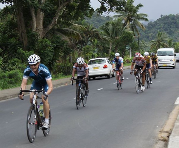 Stage 5 finish at Lami, Suva